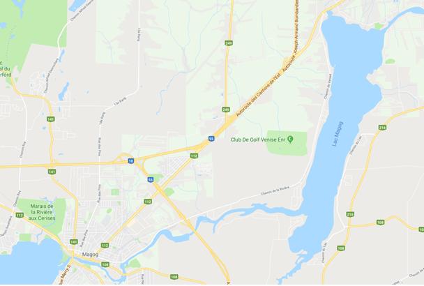 Carte du Lac Magog - Appâts du nord